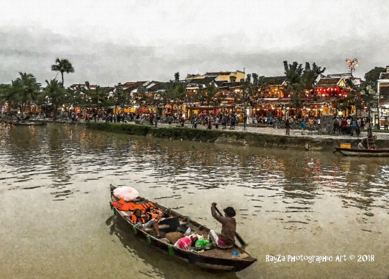 Canoe on river - Hoi An